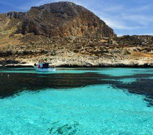 Isola di Favignana. Vista dal mare